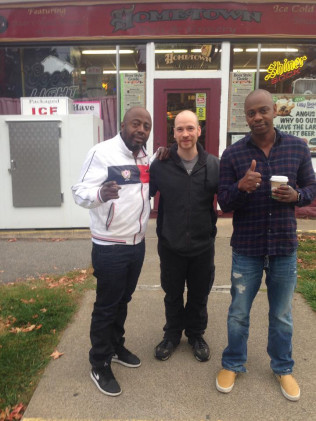 Donnell Rawlings and Dave Chappelle stopped by Hometown Deli for breakfast sandwiches, subs, and some coffee!